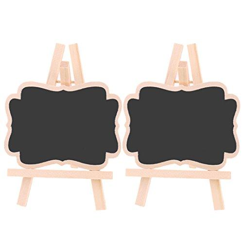 sourcingmap Mariage message en bois permanent Numéro de table Inscrivez Tableau noir Tableau noir