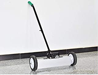 Yaheetech 36in Rolling Magnetic Pick-Up Sweeper with Adjustable Long Handle Floor Cleaner