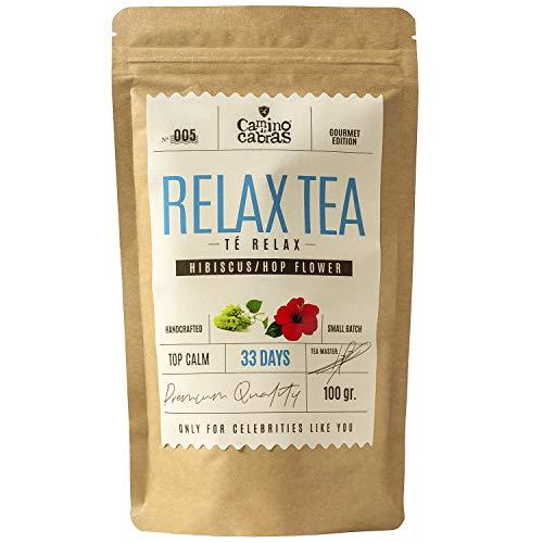 RELAX TEA   Infusiones para dormir   Te Gourmet Relajante y Digestivo   Manzanilla, Regaliz, Jengibre, Canela, Hinojo, Melisa, Hiperico   Sin cafeina   Antioxidante Natural 100g