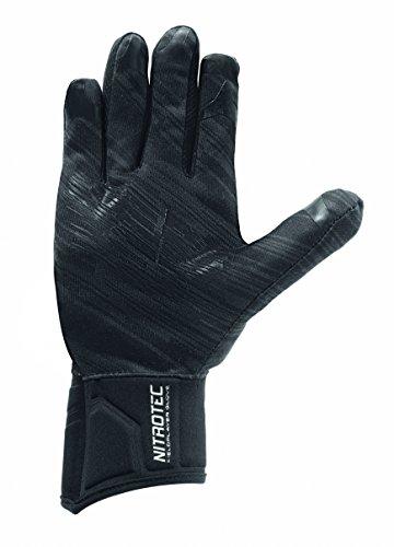 uhlsport Erwachsene NITROTEC SPIELERHANDSCHUH Torwart-Handschuhe, schwarz/Anthra, 7