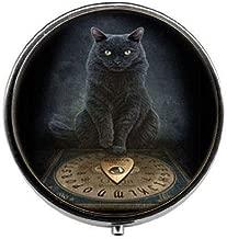Steampunk Black Cat Pill Box,Candy Box Vintage Charm Jewelry Glass Photo Jewelry
