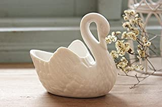 2pcs Lovely Swan White Ceramic Planter For Succulents Decorative Succulents Pot Mini Flower Pot Home Garden Decoration