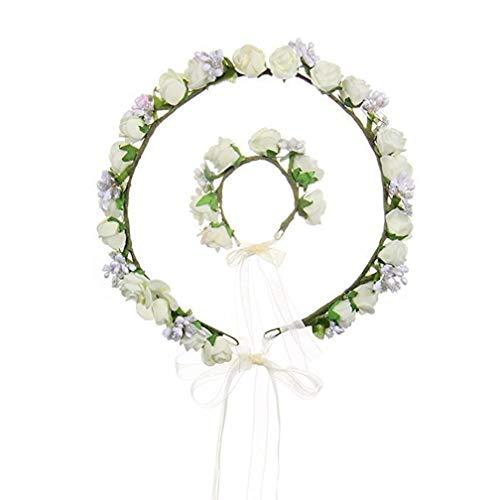Tocador de novia para dama de honor, guirnalda de boda