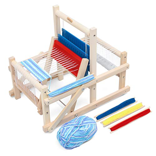 Lavievert Wooden MultiCraft Weaving Loom DIY HandKnitting Weaving Machine Intellectual Toys for Kids