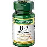 Best GNC B Vitamins - Nature's Bounty Vitamin B-2 100 mg, 100 Coated Review