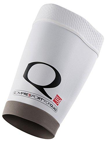 COMPRESSPORT For Quad Muslera, Unisex, Blanco, 4