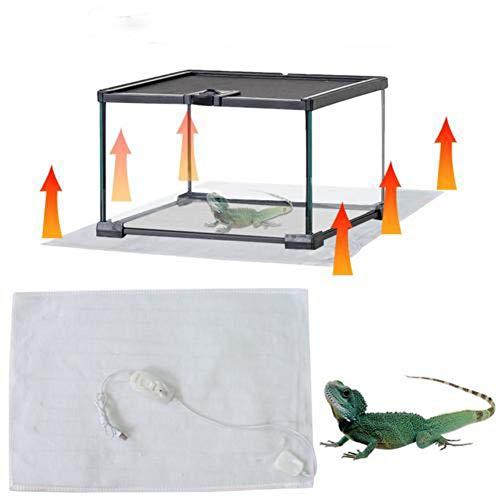 wonderday Manta Termica Reptiles, Almohadillas Térmicas Ajustables para Reptiles con Control De...