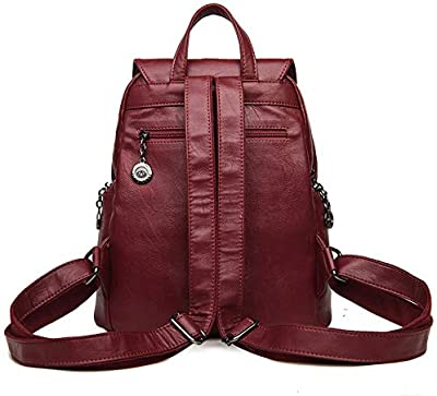 Fashion Female Backpack Leather Large Bags for Women Designer Brand Vintage Backpacks Teenage Girls