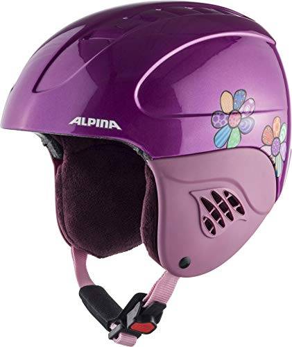 Alpina Kinder Carat Skihelm, Happy Flowers, 54-58 cm