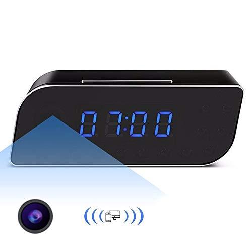 NFHNBABD Despertador Mini Cámara Despertador Infrarrojo Detección De Movimiento Reloj Niñera