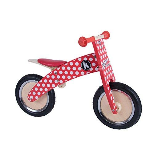 Kiddimoto - 916/606 - Vélo et Véhicule pour Enfant - Kurve Red Dotty