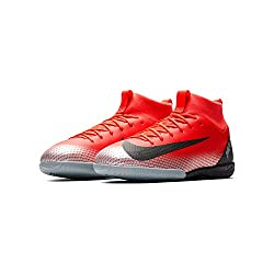 Red Nike Youth CR7 Jr. SuperflyX 6 Academy Indoor Shoe
