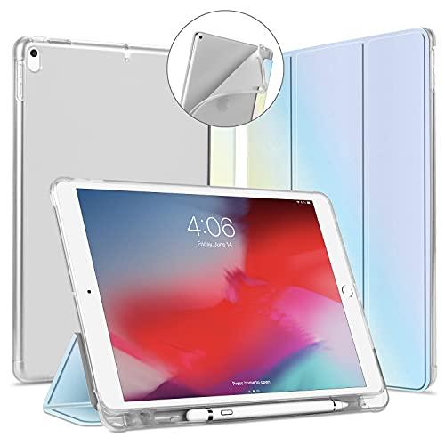 """VAGHVEO Custodia per iPad Air 3 2019, iPad PRO 10,5"""" 2017 Cover con Built-in Pencil Holder [Auto Sonno/Sveglia], Pelle PU Flessibile Protettiva Morbida TPU Traslucida Posteriore Smart Case, Colorata"""