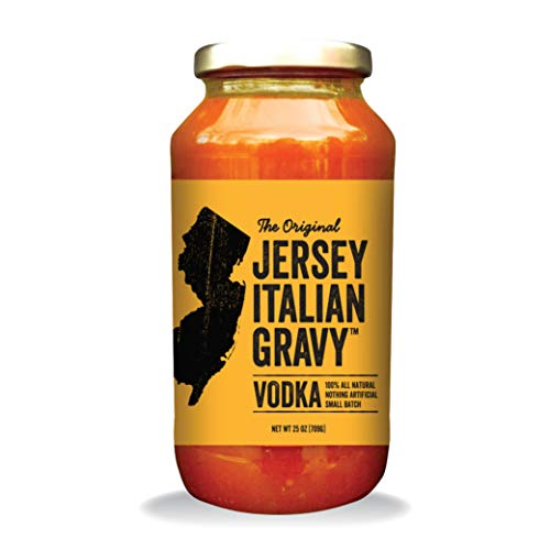 Jersey Italian Gravy-24 OZ Jar-Gourmet, All Natural All Purpose Tomato Sauce for Pasta and More, No Artificial Ingredients- Vegan Friendly-Authentic Recipe for Pasta, (Vodka, 6 Pack)