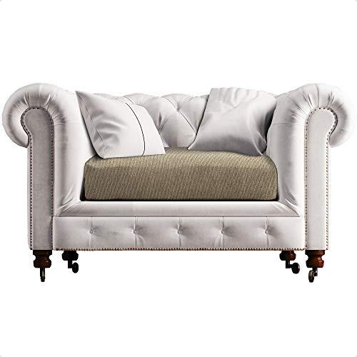 CIUCO COCCIUTO 2 fundas de asiento para sillón o sofá con 2 cojines – elásticas, no necesita planchado – Fabricado en Italia