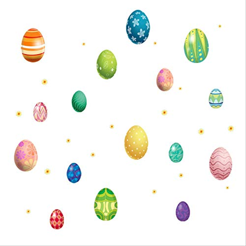 DQGZYF Easter Egg Wall Stickers Kindergarten Children's Room Party PVC Self-Adhesive Painting Home Decoration 70 * 70cm