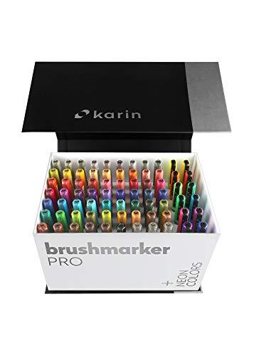 KARIN Mega Box Plus – 72 colores + 3 Blender, BrushMarker Pro...