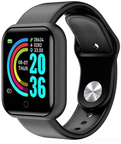 Reloj inteligente Fitness Tracker impermeable con monitor de ritmo cardíaco, monitor de sueño, cronómetro, podómetro, pulsera deportiva para hombres y mujeres, compatible con Android y iOS