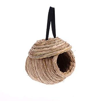 ueetek Oiseaux Nest main Cage à oiseau Fait main paille tissé nid pour perruches BUDGER unique et petites Animal 8inch