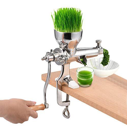 Extracteur de jus à manivelle en acier inoxydable - Pour herbes de blé et légumes à feuilles - 3 filtres sans électricité