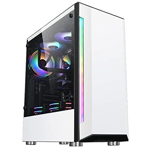 yaunli Caja de La Computadora RGB Caja De Juegos ATX/M- ATX/ITX Panel...