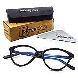 Peter Jones Cateye Blue Light Blocking Reading Glasses for Women, Computer Readers UV 400 Customise Prescription (SIZE MEDIUM) AG127
