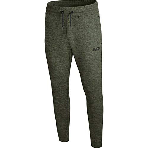 JAKO Damen Jogginghose Premium Basics, Khaki meliert, 34