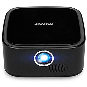 Miroir M29 Portable Projector Black 1080P Supported 50in Picture Rechargeable Battery Home / Outdoor Entertainment Compatible with TV Stick / Laptop / iPhone / Android / Game Consoles  Renewed