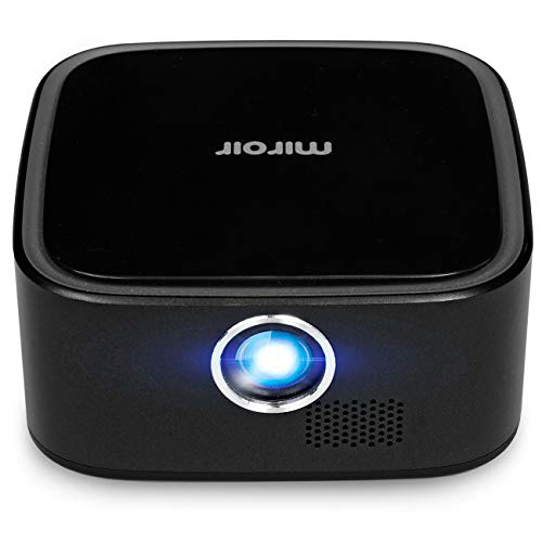 "Miroir M29 Portable Projector (Renewed), Black, 1080P Supported, 50"" Picture, Rechargeable..."