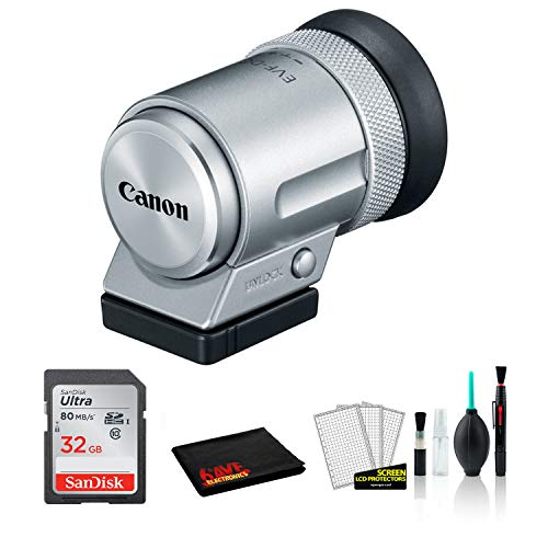 Canon EVF-DC2 Electronic Viewfinder (Silver) 1882C001 for with 32GB Memory Card
