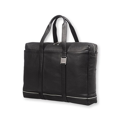 Moleskine Lineage Leather Briefcase Black