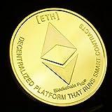 JimAndAlice Moneda de Ethereum Creativa, RecuerdoColeccionable, Gran Regalo, colección de Arte de Ethereum, Moneda Conmemorativa física