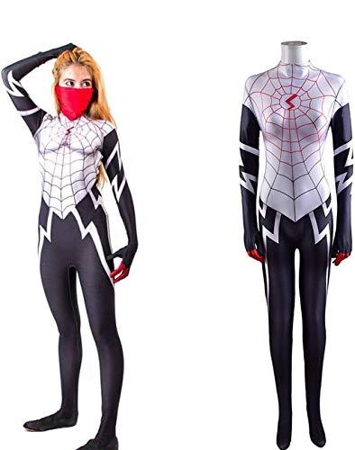 NVHAIM Body Spider-Hombre de superhroe Femenino, Disfraz de Disfraz de Lujo de Spandex Conjunto de Traje de Juego Ajustado,Kids XS
