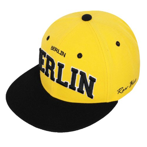 Raw Blue Cityline Berlin Snapback Cap in Yellow / Black