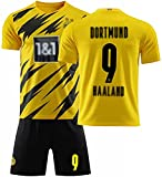 Uniforme de camisa de fútbol Desgaste de fútbol, adultos Niños Erling Haaland 9 Jersey de fútbol, traje de entrenamiento de fútbol,...