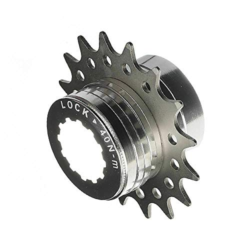 CyclingDeal Conversion Kit Fixie Bike Single Speed Compatible with Shimano Sram Cassette Freewheel Hub Adaptor - for Mountain and Road Bike Gear Cog Spacers 14 Teeth