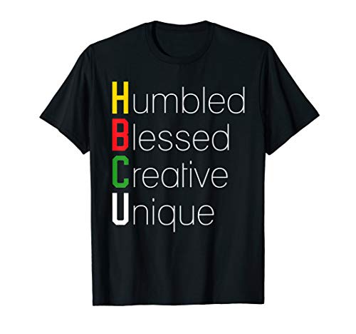 HBCU Apparel African Shirt - Humbled Blessed Creative Unique T-Shirt