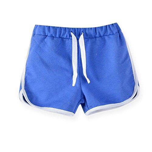 LaoZanA LaoZanA Kinder Jungen Mädchen Kordelzug Sommer Shorts Kurze Hose Hotpants Dunkelblau 100