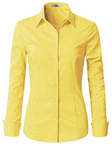 EZEN Womens Best Womens Work Clothes Yellow Medium