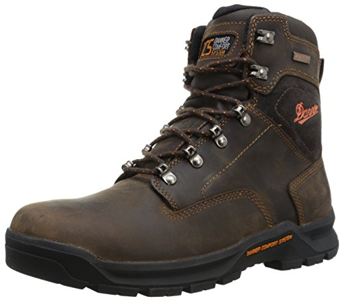 Danner Men's Crafter 6 Inch Plain Toe Work Boot, Brown, 9 D US