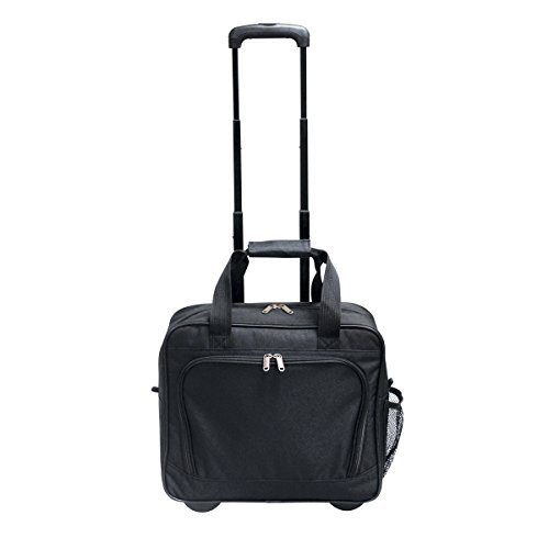 """Preferred Nation Rolling Laptop Computer Case Wheeled Trolley Bag Fits 15.4"""" Laptop 