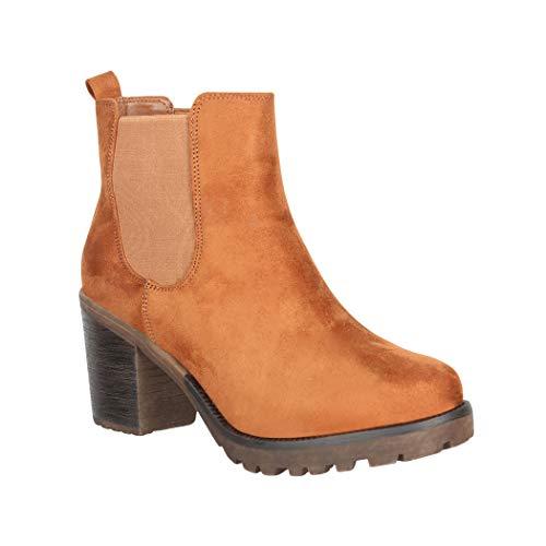 Elara Botines de Tobillo para Mujer Ankle Boots Chunkyrayan