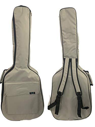 Gitarrentasche Konzertgitarre Gig Bag Rucksack Tasche gepolstert 4/4-3/4-1/2 - (1/2-87 cm, Grau)