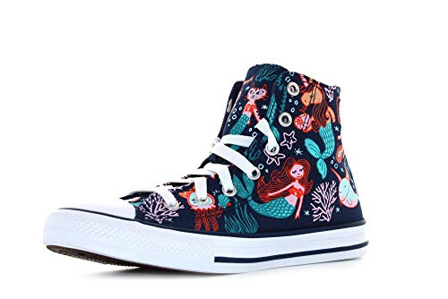 Converse Chuck Taylor All Star Kids - Hi - Navy/Rapid Teal/Weiß Segeltuch