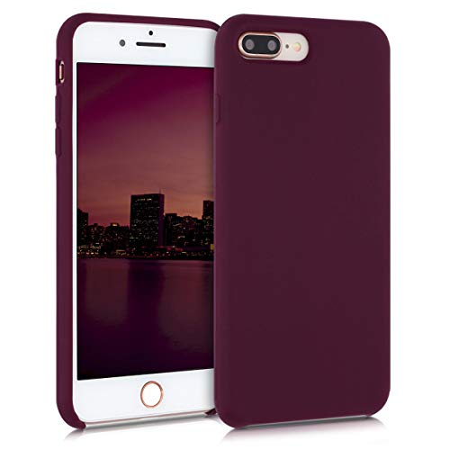 kwmobile Hülle kompatibel mit Apple iPhone 7 Plus / 8 Plus - Hülle Handyhülle gummiert - Handy Hülle in Bordeaux Violett