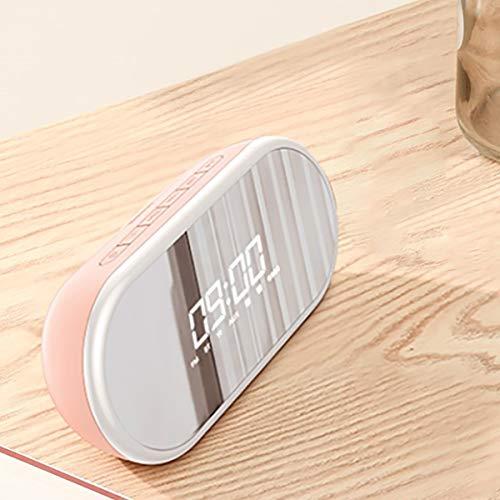Wuyou- Schlummerleuchten Drahtloser Bluetooth-Lautsprecher Cannon Household Overweight Subwoofer Outdoor Mini-Kleinlautsprecher mit großem Volumen Nachtlichter (Color : Pink)