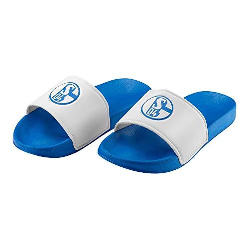 Schalke 04 Badeschuh FC Sticker Gelsenkirchen Forever, Schuhe, Badelatschen, Badeschlappen (37)