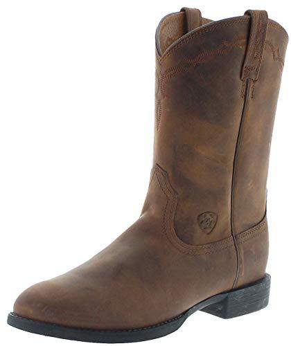 Ariat Damen Cowboy Stiefel 0797 Heritage Roper Brown Westernreitstiefel Braun 38.5 EU
