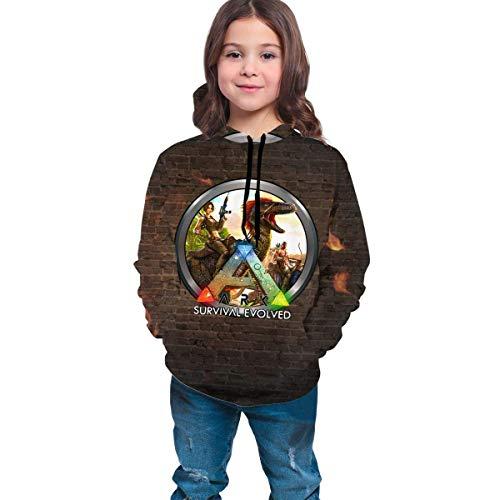 Tengyuntong Sudaderas con Capucha Teens Ark Survival Evolved Pullover Hoodie para niñas niños Ropa Moda última impresión 3D Sport Tops Sudadera