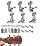 6 Pieces Knobs Tuning Keys, 3L3R Acoustic Guitar Tuning Pegs Machine Head Tuners, Guitar Parts, Wear-Resistant And Durable, Anti-Corrosion And Anti-Rust For Acoustic Or Electric Guitar